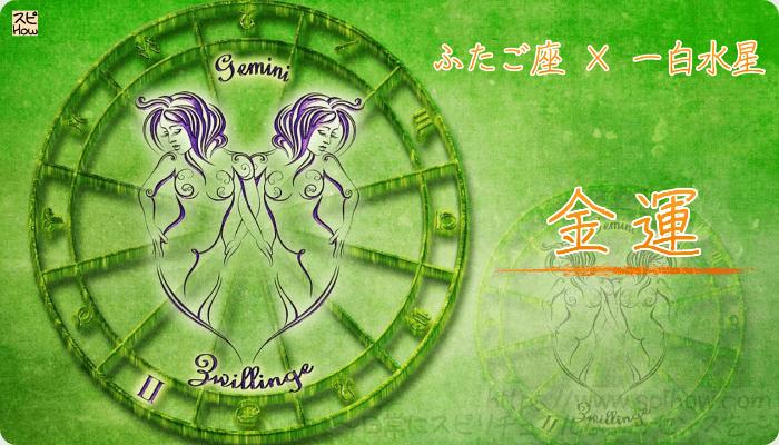 ふたご座×一白水星【金運】