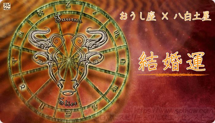 おうし座×八白土星【結婚運】