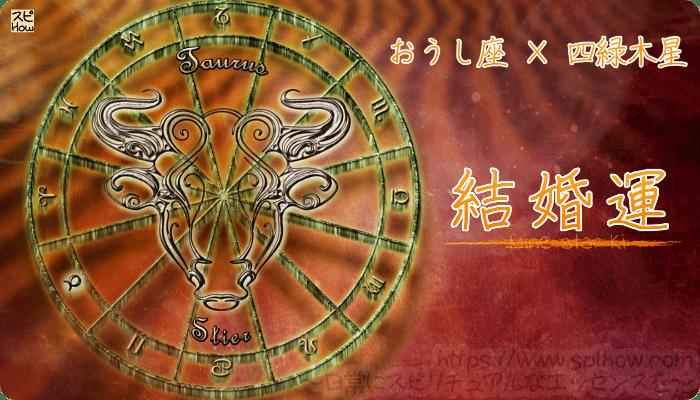 おうし座×四緑木星【結婚運】