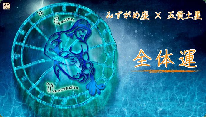みずがめ座×五黄土星【全体運】