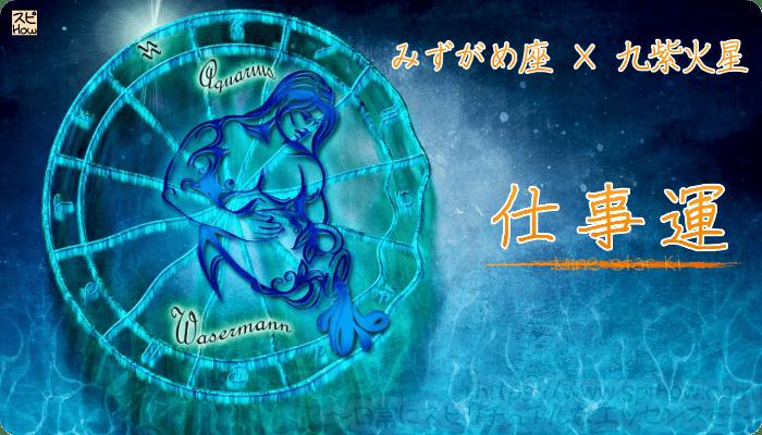 みずがめ座×九紫火星【仕事運】