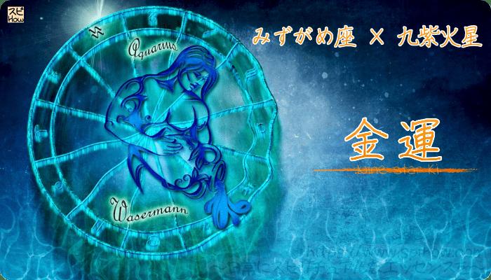 みずがめ座×九紫火星【金運】