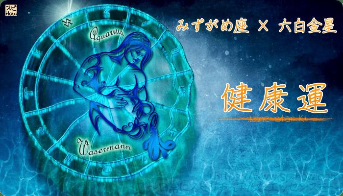 みずがめ座×六白金星【健康運】