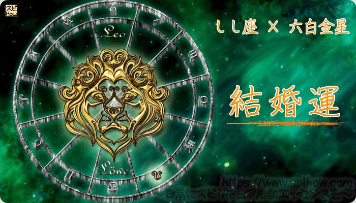 しし座×六白金星【結婚運】
