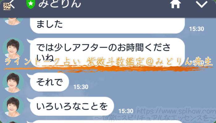 ライントーク占い10分間チケット紫微斗数鑑定@みどりん先生