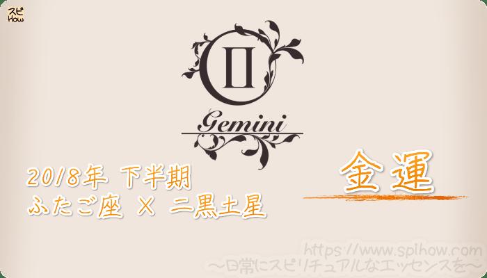 ふたご座×二黒土星の2018年下半期の運勢【金運】