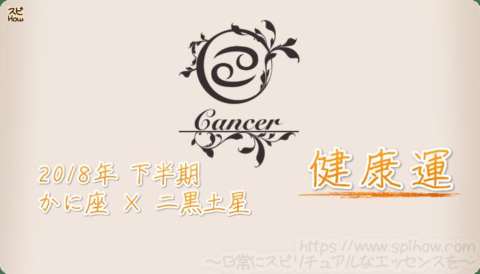 かに座×二黒土星の2018年下半期の運勢【健康運】