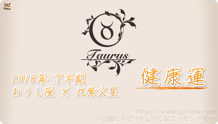 おうし座×九紫火星の2018年下半期の運勢【健康運】
