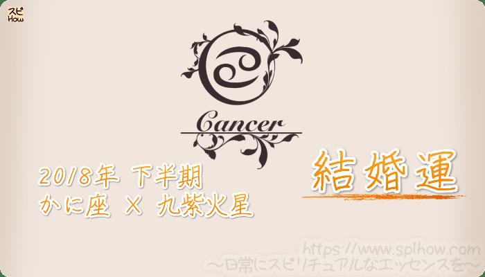 かに座×九紫火星の2018年下半期の運勢【結婚運】