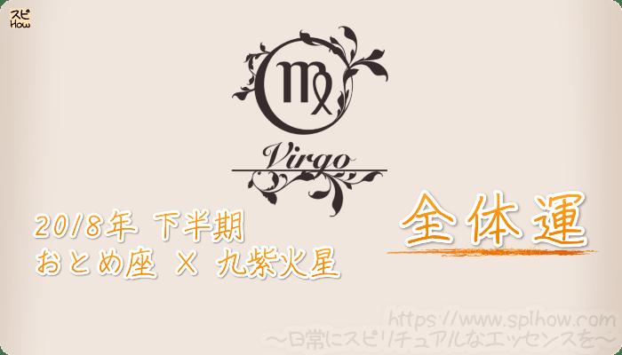 おとめ座×九紫火星の2018年下半期の運勢【全体運】