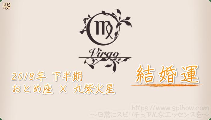 おとめ座×九紫火星の2018年下半期の運勢【結婚運】