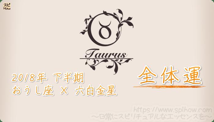 おうし座×六白金星の2018年下半期の運勢【全体運】
