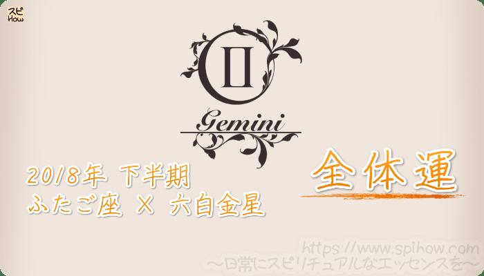 ふたご座×六白金星の2018年下半期の運勢【全体運】
