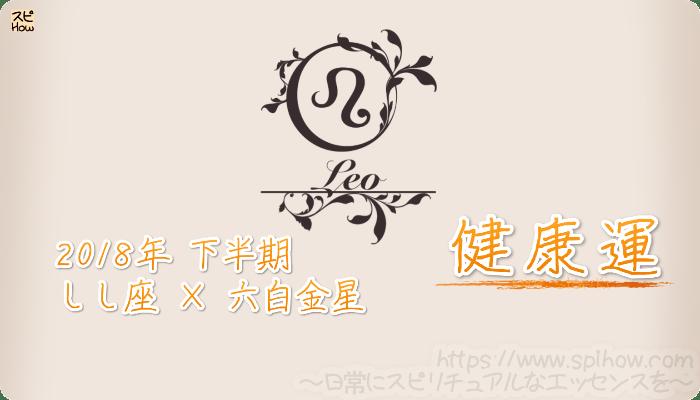 しし座×六白金星の2018年下半期の運勢【健康運】