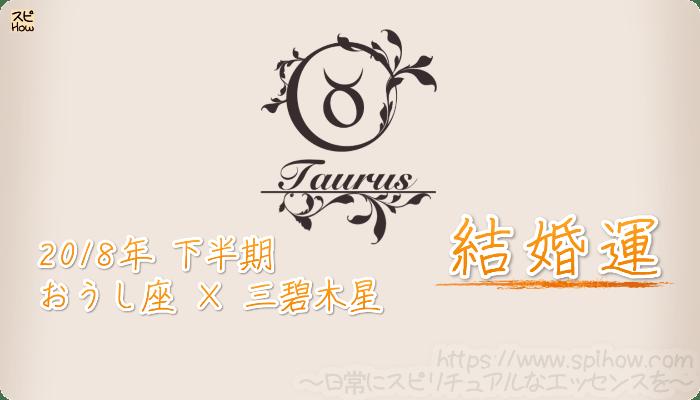 おうし座×三碧木星の2018年下半期の運勢【結婚運】