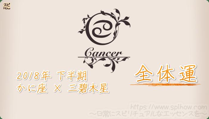 かに座×三碧木星の2018年下半期の運勢【全体運】