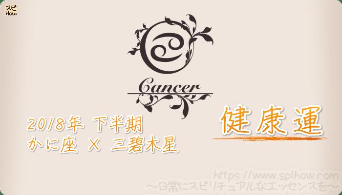 かに座×三碧木星の2018年下半期の運勢【健康運】