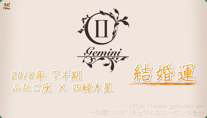 ふたご座× 四緑木星の2018年下半期の運勢【結婚運】
