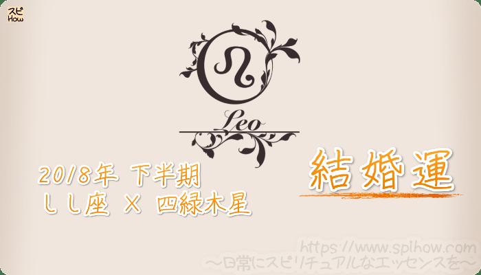 しし座×四緑木星の2018年下半期の運勢【結婚運】