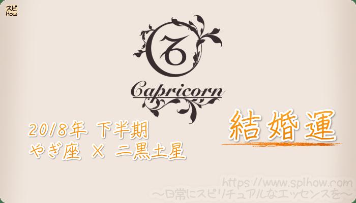 やぎ座×二黒土星の2018年下半期の運勢【結婚運】