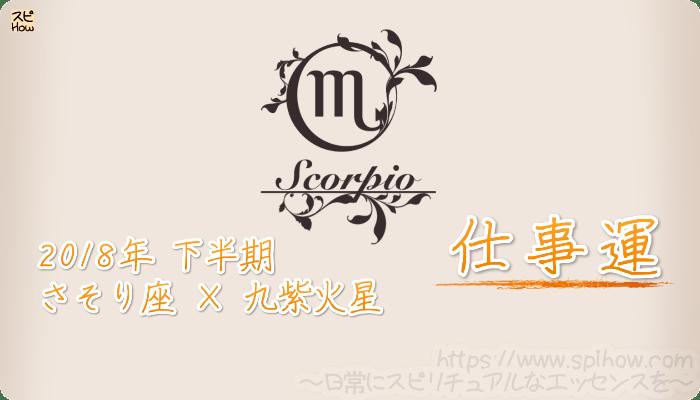 さそり座×九紫火星の2018年下半期の運勢【仕事運】