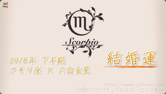 さそり座×六白金星の2018年下半期の運勢【結婚運】