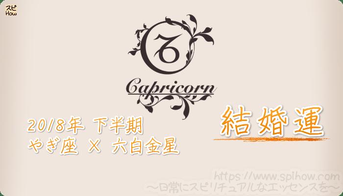 やぎ座×六白金星の2018年下半期の運勢【結婚運】
