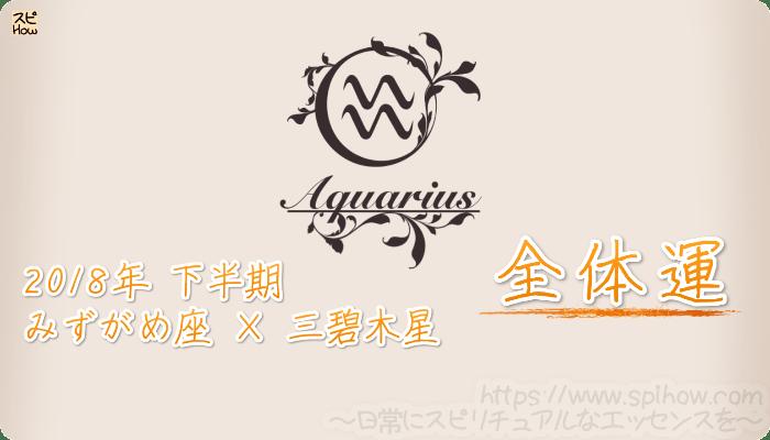 みずがめ座×三碧木星の2018年下半期の運勢【全体運】