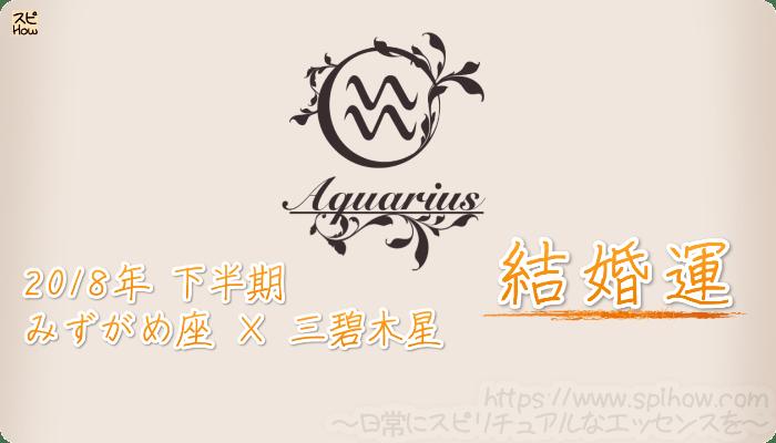 みずがめ座×三碧木星の2018年下半期の運勢【結婚運】