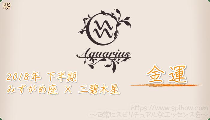 みずがめ座×三碧木星の2018年下半期の運勢【金運】
