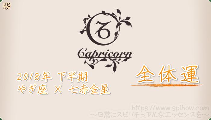 やぎ座×七赤金星の2018年下半期の運勢【全体運】