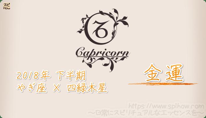 やぎ座×四緑木星の2018年下半期の運勢【金運】