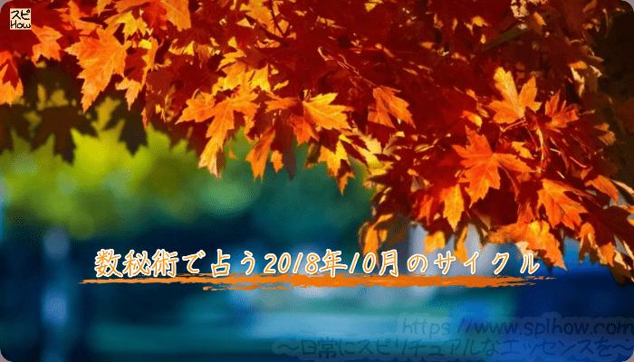 数秘術で占う2018年10月のサイクル
