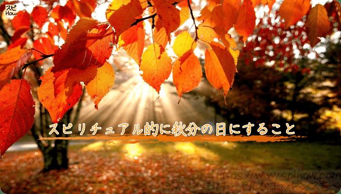 スピリチュアル的に秋分の日にすること