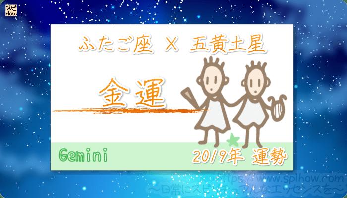 ふたご座×五黄土星の2019年の運勢【金運】
