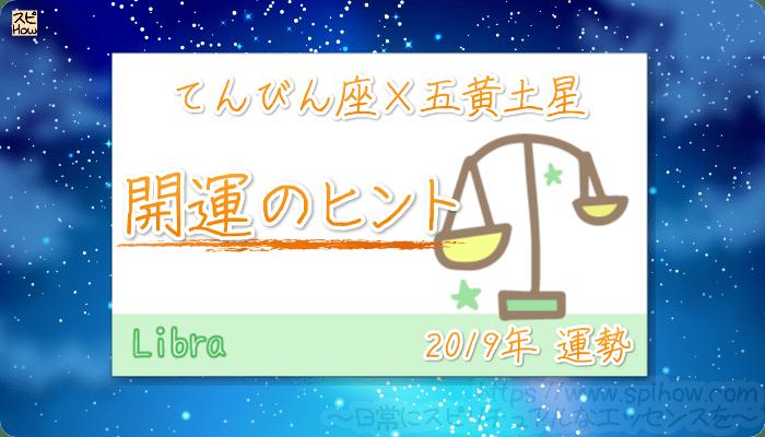 てんびん座×五黄土星の【2019年をHAPPYに過ごすためのヒント】