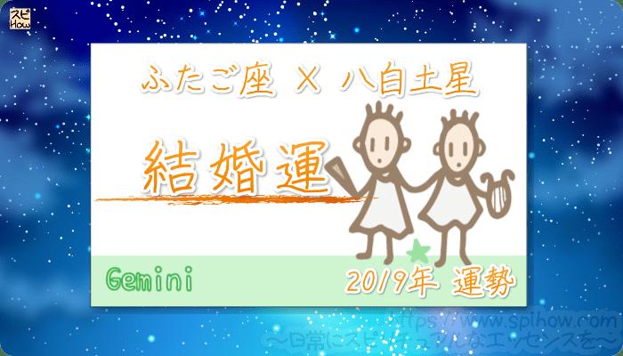 ふたご座×八白土星の2019年の運勢【結婚運】