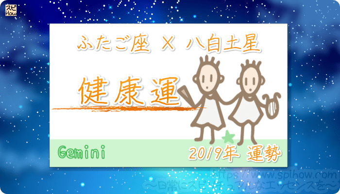 ふたご座×八白土星の2019年の運勢【健康運】