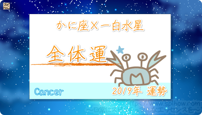 かに座×一白水星の2019年の運勢【全体運】