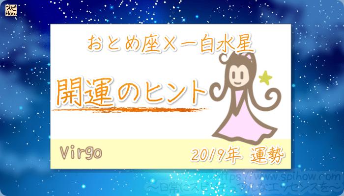 おとめ座×一白水星の【2019年をHAPPYに過ごすためのヒント】