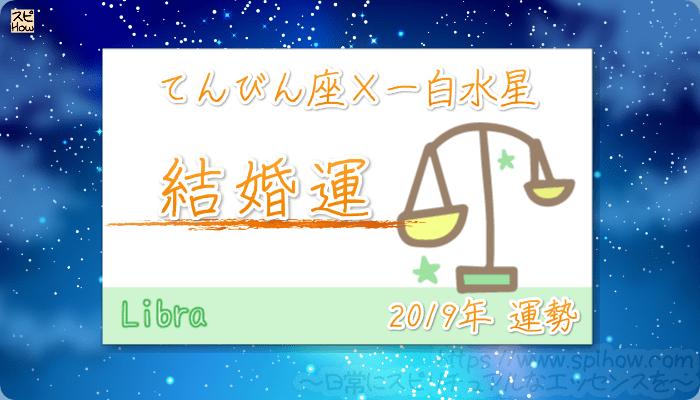 てんびん座×一白水星の2019年の運勢【結婚運】