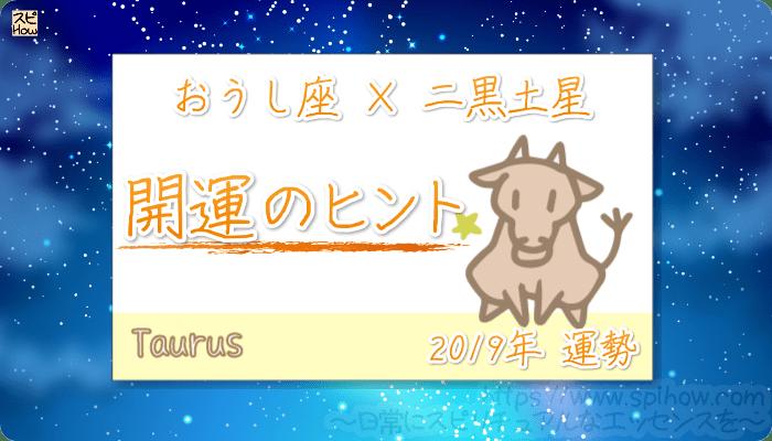おうし座×二黒土星の【2019年をHAPPYに過ごすためのヒント】