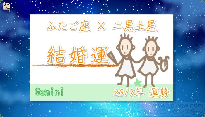 ふたご座×二黒土星の2019年の運勢【結婚運】