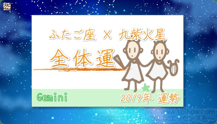 ふたご座×九紫火星の2019年の運勢【全体運】