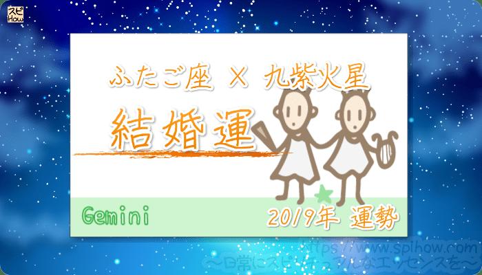 ふたご座×九紫火星の2019年の運勢【結婚運】