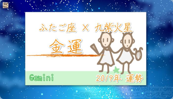 ふたご座×九紫火星の2019年の運勢【金運】
