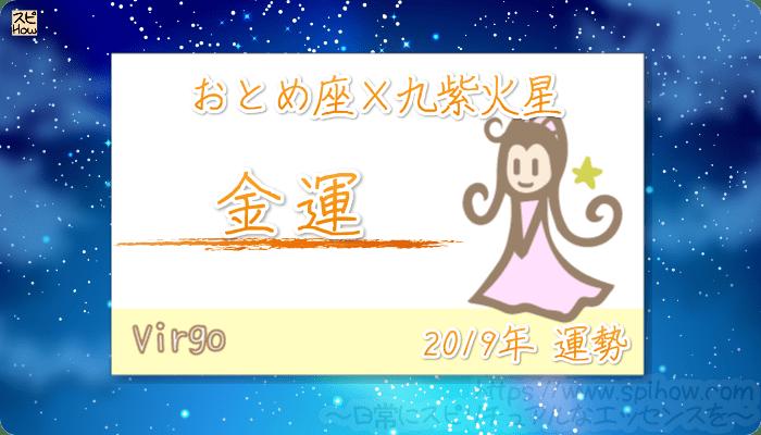 おとめ座×九紫火星の2019年の運勢【金運】