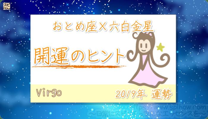おとめ座×六白金星の【2019年をHAPPYに過ごすためのヒント】