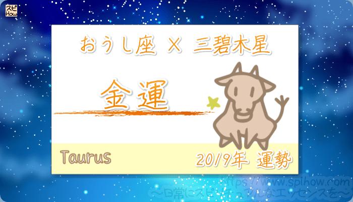 おうし座×三碧木星の2019年の運勢【金運】