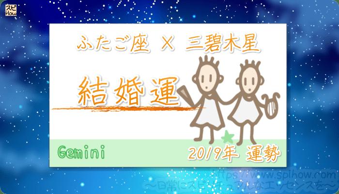 ふたご座×三碧木星の2019年の運勢【結婚運】
